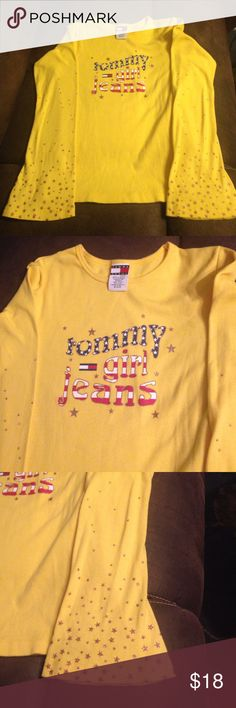 Long sleeve T-shirt Tommy jeans long sleeve T-shirt nice color worn two times Tommy jeans Tops