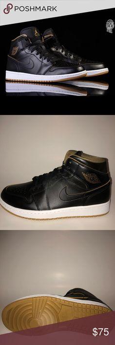277426dea Air Jordan 1  Black Gold  Air jordan Black and brand new with box best  price in the market Nike Shoes Sneakers