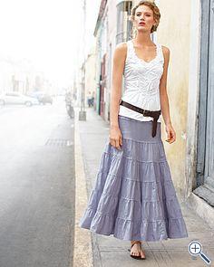LOVE this skirt in Pink Grapefruit from Garnet Hill