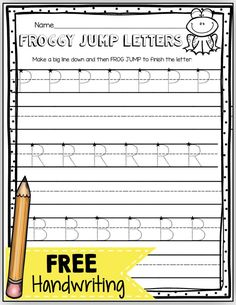 FREE handwriting worksheets for students - teach children correct directionality to help improve their handwriting and printing capital and lowercase letters - easy writing center or small group instruction - FREEBIE printable - students who mix up b and Free Handwriting Worksheets, Kindergarten Handwriting, Handwriting Activities, Kindergarten Freebies, Kindergarten Writing, Teaching Writing, Literacy, Kindergarten Curriculum, Fun Worksheets