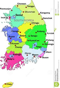 Label the Map of South Korea | Family Stuff | Pinterest | South korea