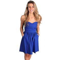The Savannah Dress in Royal Blue by Lauren James