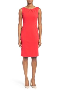 Classiques Entier® Tuck Front Ponte Sheath Dress available at #Nordstrom