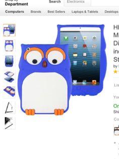 Blue owl iPad mini case