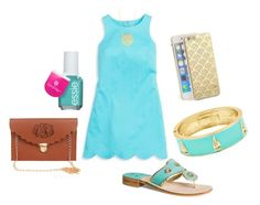 """""""SSPreps Audition 2***"""" by lucynew44 ❤ liked on Polyvore featuring Southern Tide, Fornash, Jack Rogers, Essie, BaubleBar, Sonix, women's clothing, women, female and woman"""