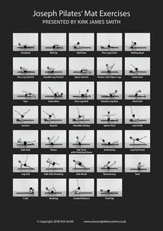 "Large A1 poster ""The Joseph Pilates Matwork Exercises"" - Pilates Posters"