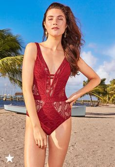 d687d91132212 Becca Color Play Illusion-Lace One-Piece Swimsuit Women - Swimwear - Macy s