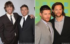 Jared and Jensen red carpet 2006 vs. 2012<3  (click for much larger image)