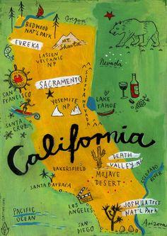 Postcard from California Art Print by Christiane Engel | Society6