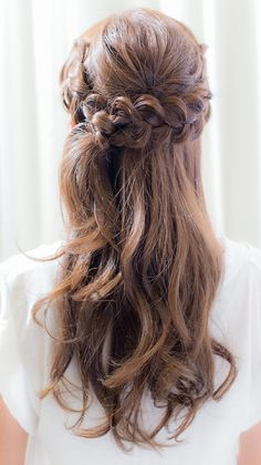 do something creative everyday Open Hairstyles, Bride Hairstyles, Pretty Hairstyles, Bridal Hair Inspiration, Hair Arrange, Natural Hair Styles, Long Hair Styles, Hair Reference, Aesthetic Hair