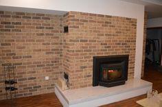 Kanadská krbová vložka v realizácií firmy Krbex s.r.o. #canadian #rustical #fireplace #krb #bricks #tehla