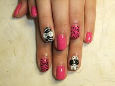 Nail polish art, some art with my client