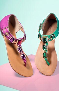 Fiana Bejeweled Sandals