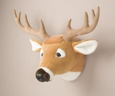 Amazon.com: Deer Head Stuffed Animal Wall Mount Hunter Nursery: Toys & Games