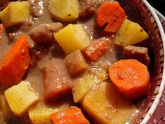 I wanted to make stew, but I didnt want to make a lot so this recipe came out of the darkest corners of my brain. And by the way, this recipe is just enough for two hearty bowlfuls. If you want to double this, go right ahead. Please feel free to adjust the seasonings to your own taste. Submitted to ZAAR on December 30th, 2008.