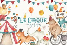 Le Cirque Magnifique  by Flora & Bear on @creativemarket