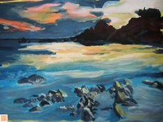 Aurore marine Creations, Painting, Art, Sunrises, How To Paint, June, Art Background, Painting Art, Paintings