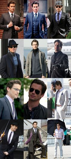 Neal Caffrey (played by Matt Bomer) Fashion & Style Lookbook All of the good choices here, including the glasses and the hair. CH