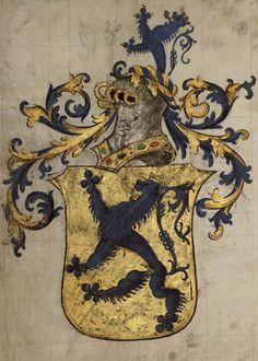 «Armorial dit de Nicolas de Lutzelbourg», v. 1540 [BM de Nancy, Ms 1727] -- Armorial composé pour Nicolas de Lutzelbourg, seigneur de Fléville, capitaine de Nancy.