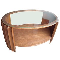 1stdibs | Gilbert Rohde Art Deco Coffee /cocktail /side Table, Glass Top.