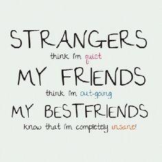 strangers, friends, best friends