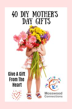 40 DIY Mother's Day Gifts that come straight from the heart! Kids will love to c… 40 DIY Mother's Day Gifts that come straight from the heart! Kids will love to create their own Mother's Day present for mom 40 Diy Gifts, Diy Gifts For Mothers, Mothers Day Presents, Mothers Day Crafts, Simple Gifts, Homemade Gifts, Mother Day Gifts, Projects For Kids, Crafts For Kids