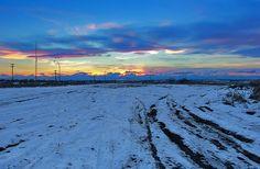 Industrial Sunset    #winter #landscape #sunset