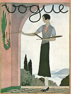 vintage Vogue cover artwork by André Edouard Marty