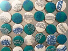 Henna Inspired Circle Shape Sugar Cookies. 1 dozen = $32