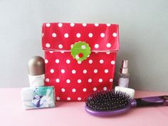Cosmetic bag Cosmetic case Toiletry Bag Makeup by shiraproducts