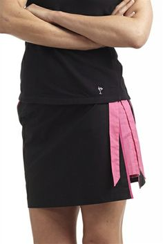 Black and Pink Wrap Golf Skort | #Golf4Her #NewArrival #Spring14 #Golftini