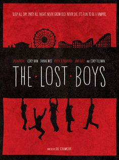 The Lost Boys  Minimal Style 12x16 Vampires Print by Wonderbros, $20.00