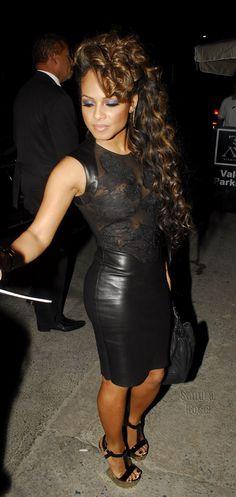 Christina Millan.. I like the look the hair