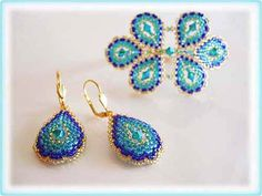 Peacock set beading TUTORIAL by AsszaJewelrymania on Etsy, $4.00. This listing is for the Pdf tutorial only. The finished product is not included, there are no supplies included.