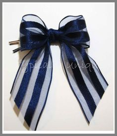 Navy blue wire edged bow 'Nerissa' http://stores.ebay.co.uk/Typically-Unique-Flowers-and-Gifts?_rdc=1