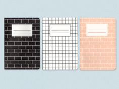 All five colors/patterns are amazing. (Present&Correct - Building Notebook)