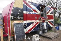 This looks like it was a camping trailer. Love the name. Bits & Druthers!