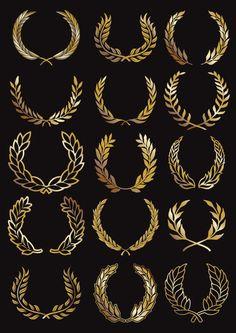 Circular Garland vector 02 - Vector Floral free download Botanisches Tattoo, Luxury Logo, Studio Logo, Laurel Wreath, Business Logo Design, Art Deco Design, Logo Design Inspiration, Art Logo, Salon Logo