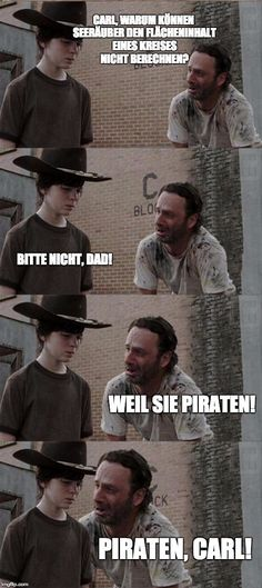 The Walking Dead Memes. Updated daily, for more funny memes check our homepage. Walking Dead Funny, Walking Dead Coral, The Walking Dad, Dad Jokes, Funny Jokes, Hilarious, Dad Puns, Pokemon Go, Twd Memes