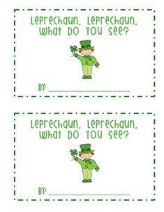 """St. Patrick's Day """"Leprechaun, Leprechaun"""" Emergent Reader"""