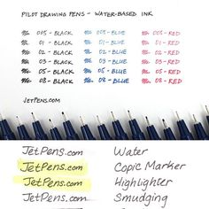 These Pilot Drawing Pens are great for drafting sketching illustration and design work. The bold water-based pigment ink gives strong color and is quick-drying water-resistant and lightfast! . What are your favorite pens for drawing? . See all the tip sizes: http://to.jetpens.com/2p1Fy2F . #writingsamplewed #instajetpens #pilotdrawingpen #drawingpen #artsupplies #stationerylove #stationeryaddict