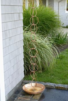 Double Link Copper Rain Chain from Gardener's Supply