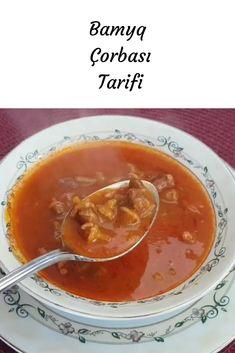 Bamya Çorbası Tarifi Thai Red Curry, Salsa, Ethnic Recipes, Food, Salsa Music, Restaurant Salsa, Hoods, Meals, Dip