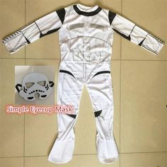 Classic Child Boy kids Star Wars The Force Awakens Storm Troopers Cosplay  Fancy Dress Kids Halloween Carnival Party Costume f9e286d1f7320