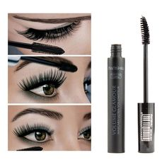 Women Black 3D Fiber Mascara Volome Curl Thick Waterproof Eyelashes Extension Brand Makeup Maquillage Y36 V2