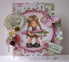 made by Jane's Lovely Cards. beautiful colors. this tilda is still on my wishlist!!!