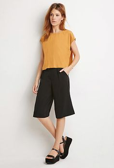 Contemporary Boxy Cap-Sleeved Top | Forever 21 - 2000141864