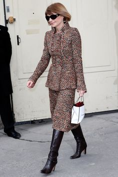 Pin for Later: Meet the 21 Best Dressed Women at Fashion Month Anna Wintour