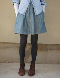 Layers. Boots and skirts