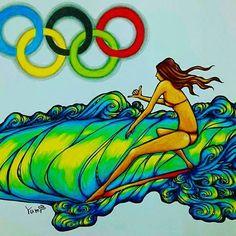 再投稿すみません(о´∀`о)2020年東京オリンピック サーフィン追加種目が 嬉しくって描きましたぁhappy!! 世界中のsurfergirl大好きです❤美しく、かっこよく、尊敬してます✨世界中のsurfergirlに届け#surfergirl#surfgirl #surfer #surfart #wave#waveart #ocean#beach #sea #Japan#surfing#hawaii#surf#sk8#東京#aloha#hawaiian#mahalo #surfboard #サーファー#サーフィン#日本#オリンピック#Olympic#2020#波乗り#青輪から描いたよ